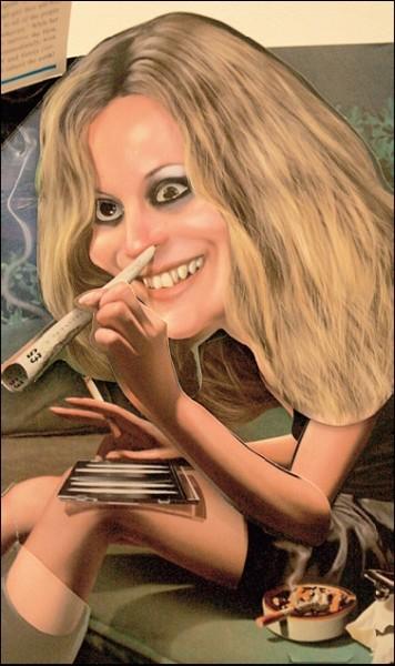 Ši iliustracija primena prieš kelerius metus kilusį skandalą, kai studijoje šniaukianti kokainą buvo nufotografuota garsi manekenė K.Moss.