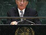 """""""Reuters""""/""""Scanpix"""" nuotr./Velionis Tassas Papadopoulas JT tribūnoje 2007 m."""