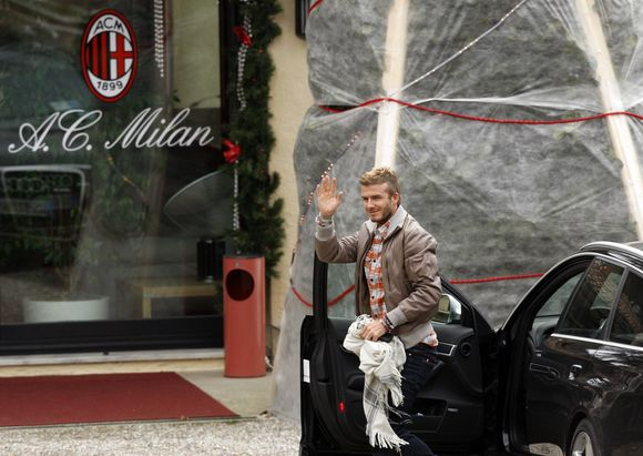 D.Beckhamas atvyko į Milaną