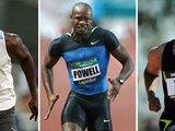 """AFP/""""Scanpix"""" nuotr./Usainas Boltas, Asafa Powellas ir Tysonas Gay'us"""