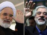 "AFP/""Scanpix"" nuotr./Opozicijos lyderiai Mehdis Karroubis ir Miras Hosseinas Mousavis"