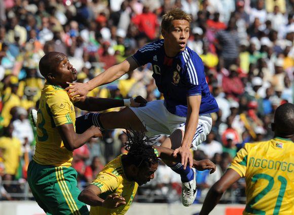 K.Honda yra Japonijos futbolo rinktinės narys