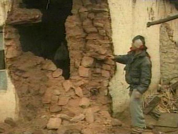 Sugriauti namai Tadžikistane