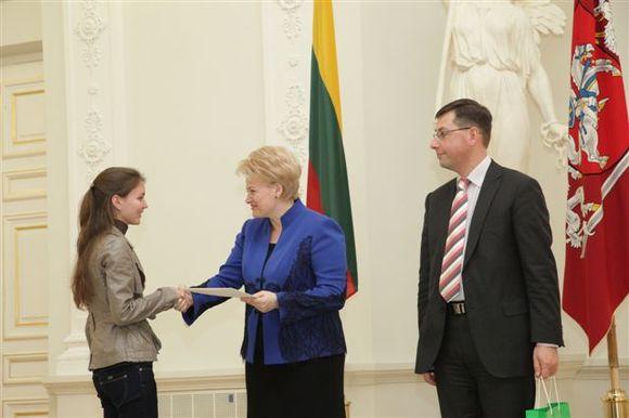 Apdovanojimo ceremonija Prezidentūroje