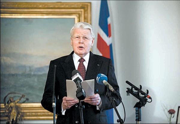 Islandijos prezidentas Olafuras Ragnaras
