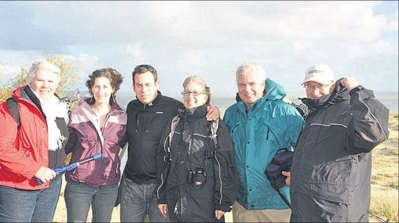 Sandra (kairėje), Kari, Michaelis, Ellen, Rinze ir Russas liko pakerėti viešnagės Nidoje.