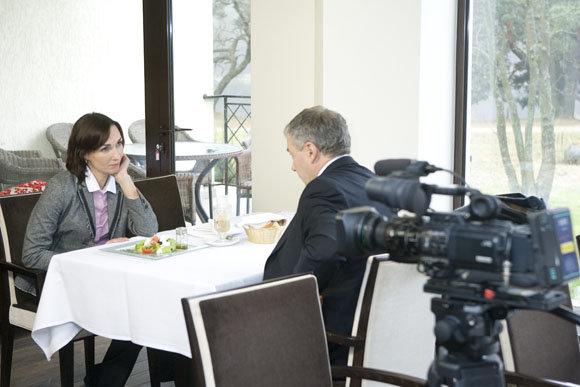 Viganto Ovadnevo nuotrauka/Jūratė Vilūnaitė filmavimo metu