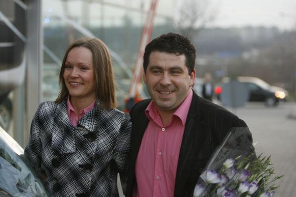 Darius Katinas su žmona