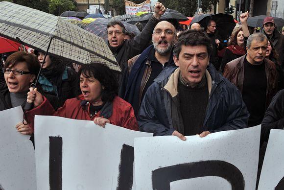 Masiniai protestai Graikijoje