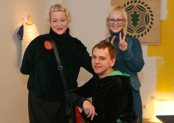Dizaineriai J.Rimkutė, I.Šiaviakovaitė ir E.Kavarskas