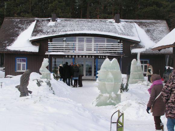 Ledo skulptūros Preiloje