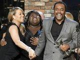 Reuters/Scanpix nuotr./Dainininkė Mariah Carey, aktorė Gabourey Sidibe ir režisierius Lee Danielsas