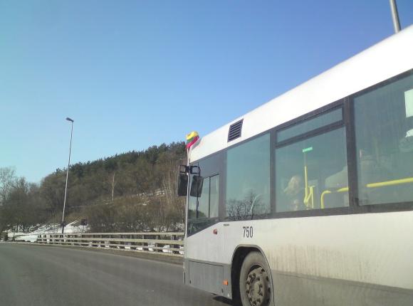 Papuoštas autobusas