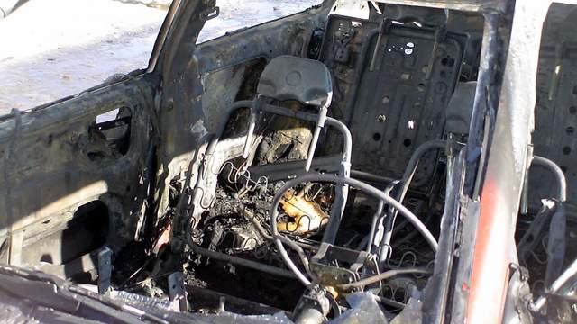 Sudegęs automobilio salonas