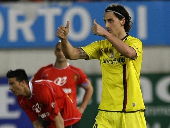 """Pergalingą įvartį """"Barcelona"""" klubui pelnė Z.Ibrahimovičius"""