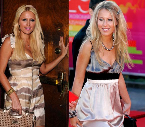 Paris Hilton ir Ksenija Sobčak