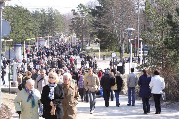 J.Andriejauskaitės nuotr./Margučiai į Palangą sutraukė nemažai svečių.
