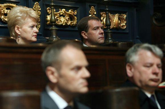 Dalia Grybauskaitė L.Kaczynskio laidotuvėse