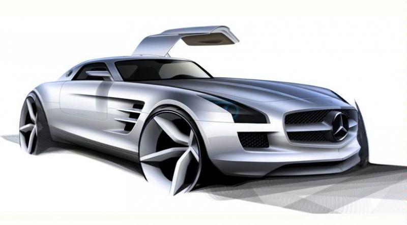 """""""Mercedes-Benz SLS AMG Gullwing"""" taps """"McLaren SLR"""" įpėdiniu"""