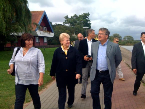 D.Grybauskaitė susitiko su B.Komorowskiu