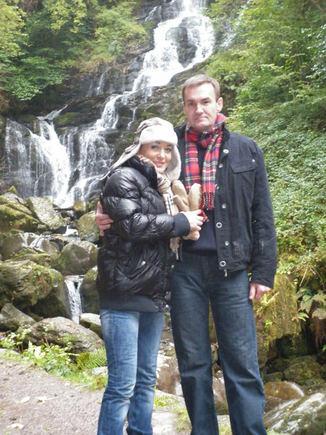 Asm. albumo nuotr./Džordana Butkutė ir Elegijus Strasevičius Škotijoje