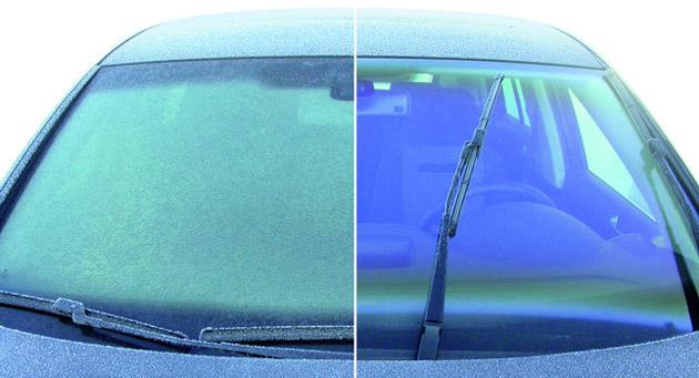 Neužšalantis ir nerasojantis priekinis VW stiklas