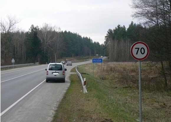 """""""Slaptas"""" Vilniaus policijos automobilis, matuojantis greitį"""