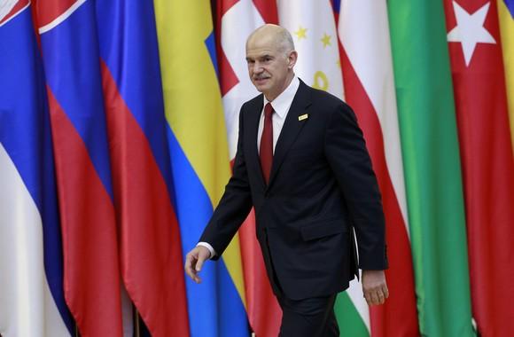 Graikijos ministras primininkas George'as Papandreou