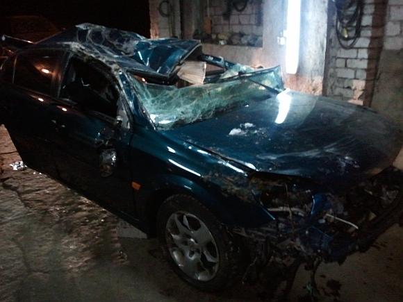 Per avariją sudaužytas automobilis