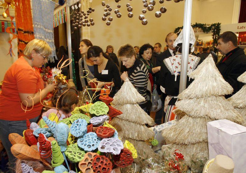 2009 m. Tarptautinės Kalėdų labdaros mugės akimirka