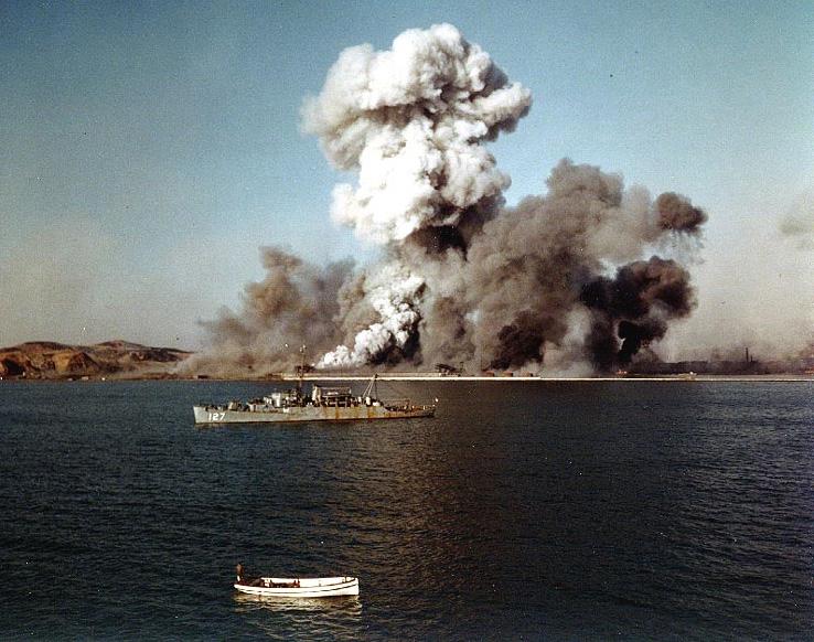 Hungnam uostas. Šiaurės Korėja. 1950 m. gruodžio 24 d.