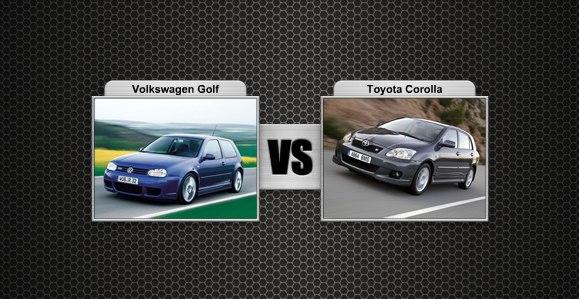 VW Golf prieš Toyota Corolla