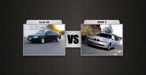 Audi A6 prieš BMW 5