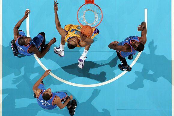 Oklahomos krepšinio klubo gerbėjas džiaugėsi ne tik savo ekipos pergale, bet ir solidžiu prizu