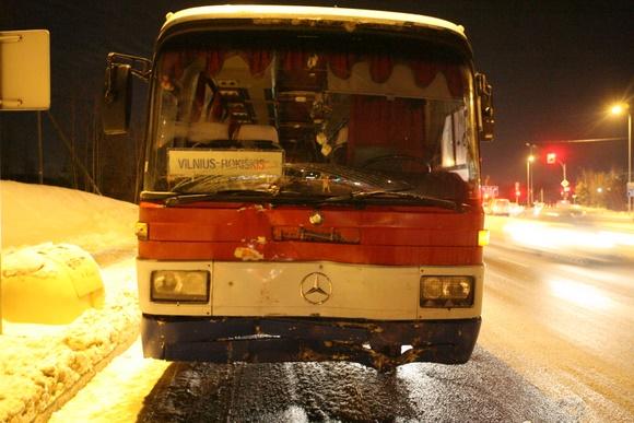 Į avariją patekęs autobusas
