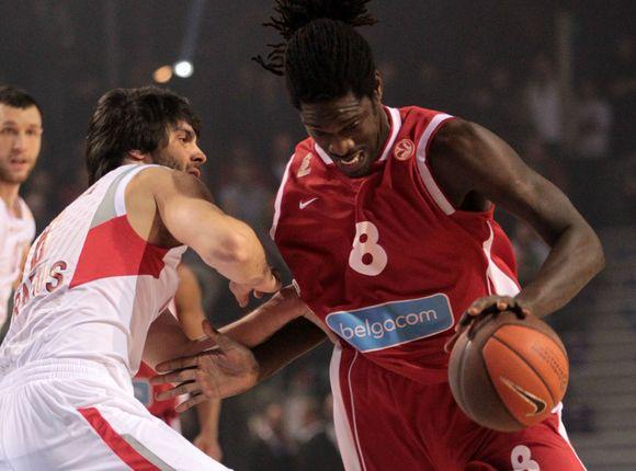 """Po pralaimėjimo """"Olympiacos"""" krepšininkas """"Spirou"""" ekipa prarado visus šansus patekti į """"Top-16"""" etapą."""