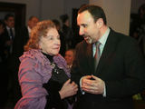 Eriko Ovčarenko/15min.lt nuotr./Aktorė Regina Varnaitė ir Kultūros ministras Arūnas Gelūnas