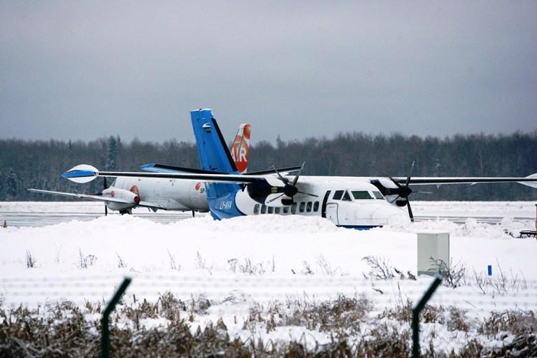 Žiemiškas Kauno oro uostas