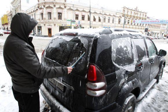 Žiemiškos gamtos išdaigos Maskvoje