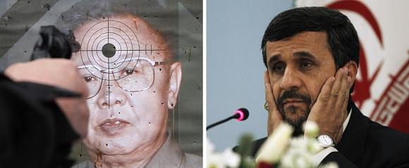 Šiaurės Korėjos lyderis Kim Jong-ilas ir Irano lyderis Mahmoudas Ahmadinejadas