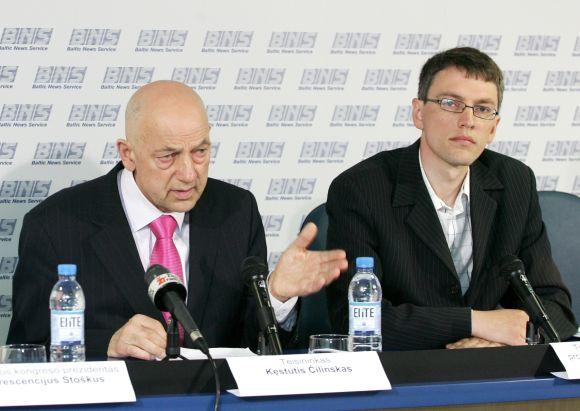 Kęstutis Čilinskas (kairėje) ir Vytautas Bakas