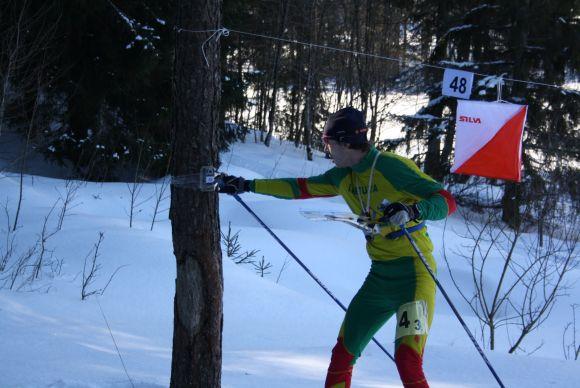 Orientavimosi sporto varžybų nugalėtojas E.Pilybas.