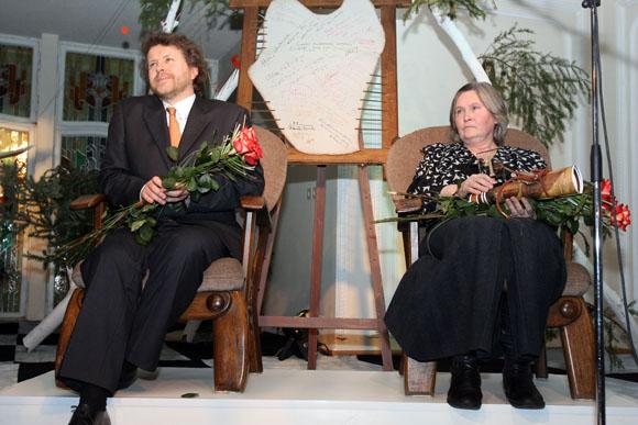 Įsimintiniausi Kauno menininkai 2010 - pianistas Rokas Zubovas ir tapytoja Elena Kniūkštaitė