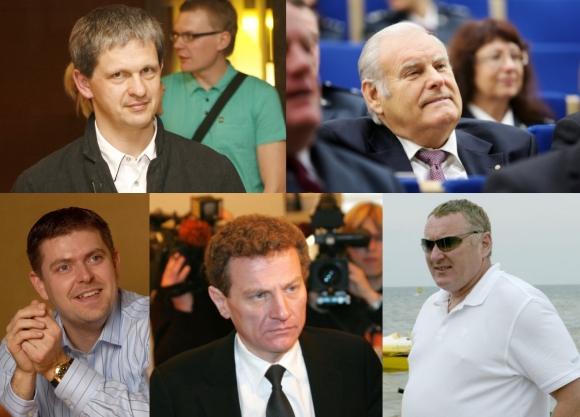 Turtingiausi Lietuvos verslininkai: Nerijus Numavičius (viršuje, kairėje), Bronislovas Lubys, Ilja Laursas (apačioje kairėje), Žilvinas Marcinkevičius ir Tautvydas Barštys