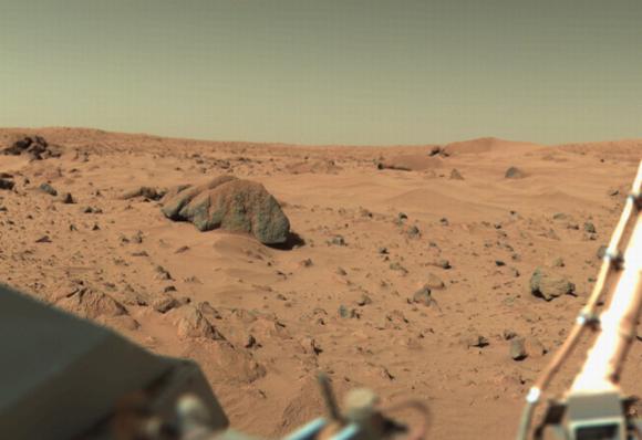 """""""Viking-1"""" kamera užfiksuotas Marso paviršiaus vaizdas"""