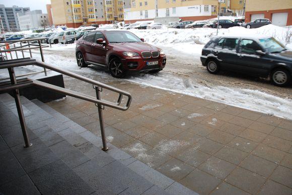 BMW X6 pažeidimas