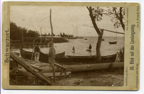 Juodkrantės prieplauka. Atvirukas. Fotografas Robert Minzloff, Tilsit, 1895.