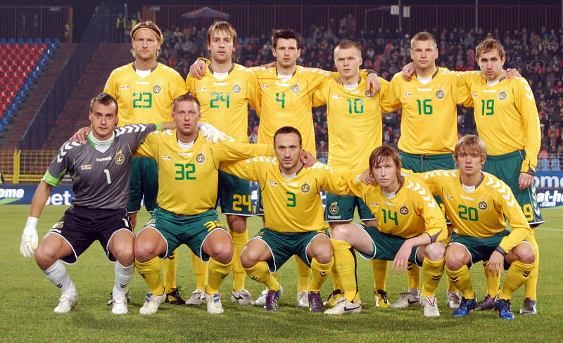 Lietuvos vyrų futbolo rinktinė.