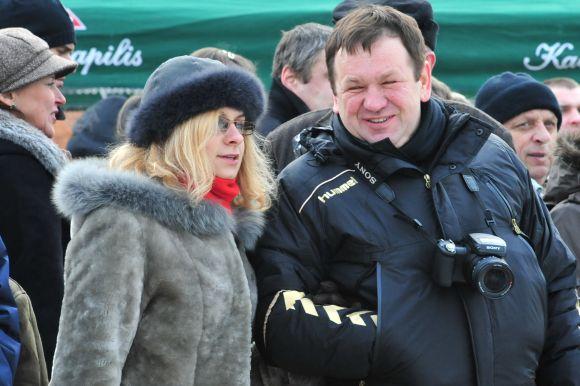 Kęstutis Pūkas su žmona