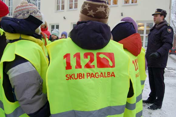 Akcija, kuria populiarinamas pagalbos numeris 112